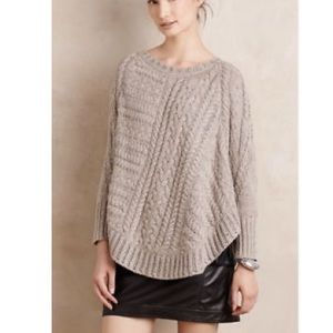 Anthropologie Poncho Knit Sweater